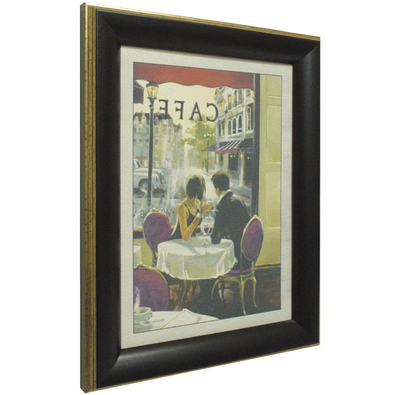 """Дизайнерская картина из песка Династия 05-001-02 """"Завтрак в кафе"""""""
