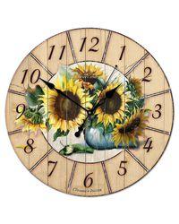 """часы Династия 02-012 """"Подсолнухи"""""""