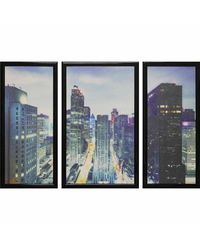 """Модульная картина Династия 06-001-01 """"Ночь в Нью-Йорке"""""""