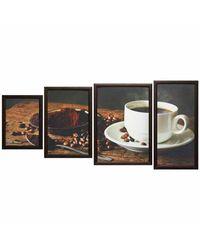 """Модульная картина Династия 06-052-04 """"Ароматный кофе"""""""