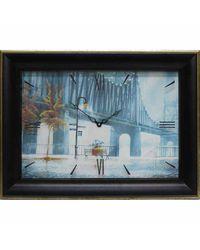 """Часы-картина из песка Династия  04-009-02 """"Дождь"""""""