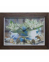 """Часы-картина из песка Династия  04-024-05 """"Ландыши"""""""