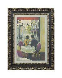 """Дизайнерская картина из песка Династия 05-001-07 """"Завтрак в кафе"""""""