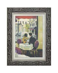 """Дизайнерская картина из песка Династия 05-001-09 """"Завтрак в кафе"""""""