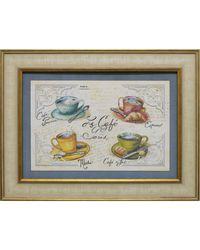 """Дизайнерская картина из песка Династия 05-002-06 """"Кофейня"""""""