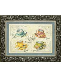 """Дизайнерская картина из песка Династия 05-002-09 """"Кофейня"""""""