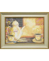 """Дизайнерская картина из песка Династия 05-003-03 """"За чашечкой кофе"""""""