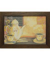 """Дизайнерская картина из песка Династия 05-003-05 """"За чашечкой кофе"""""""