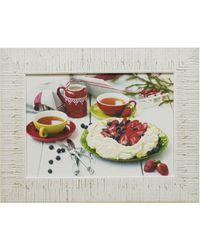 """Дизайнерская картина из песка Династия 05-004-04 """"Клубничный десерт"""""""