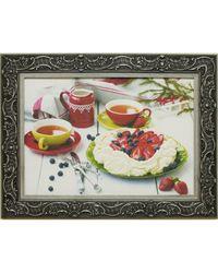 """Дизайнерская картина из песка Династия 05-004-09 """"Клубничный десерт"""""""