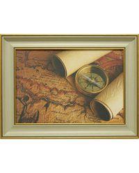 """Дизайнерская картина из песка Династия 05-005-03 """"Остров сокровищ"""""""