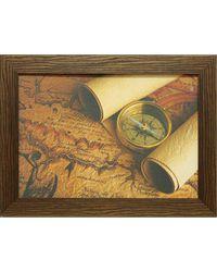 """Дизайнерская картина из песка Династия 05-005-05 """"Остров сокровищ"""""""