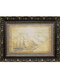 """Дизайнерская картина из песка Династия 05-007-07 """"Морская экспедиция"""""""