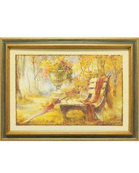 """Дизайнерская картина из песка Династия 05-014-01 """"Лавочка в парке"""""""