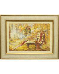 """Дизайнерская картина из песка Династия 05-014-06 """"Лавочка в парке"""""""