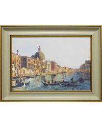 """Дизайнерская картина из песка Династия 05-016-03 """"Гранд-канал Венеции"""""""