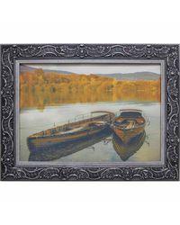 """Дизайнерская картина из песка Династия 05-018-07 """"Лодки у берега"""""""
