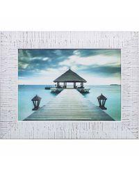 """Дизайнерская картина из песка Династия 05-019-04 """"Пирс на море"""""""