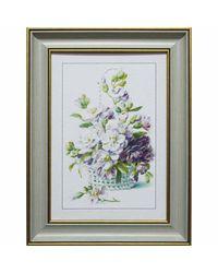 """Дизайнерская картина из песка Династия 05-024-03 """"Цветы в плетенной корзине"""""""