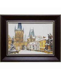 """Дизайнерская картина из песка Династия 05-025-10 """"Зимняя Прага"""""""