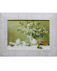"""Дизайнерская картина из песка Династия 05-026-04 """"Натюрморт с цветущей вишней"""""""