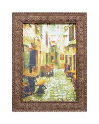 """Дизайнерская картина из песка Династия 05-029-08 """"Портовая таверна"""""""
