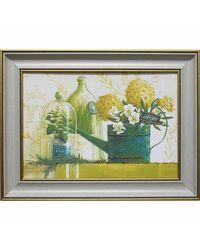 """Дизайнерская картина из песка Династия 05-035-03 """"Зеленый натюрморт"""""""
