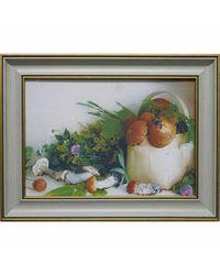 """Дизайнерская картина из песка Династия 05-040-03 """"Лукошко с грибами"""""""